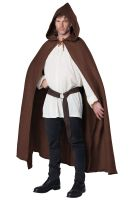 Hooded Cloak Adult Costume (Brown)