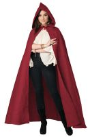 Hooded Cloak Adult Costume (Red)