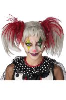 Glow in the Dark Punk Pigtails Wig (Red/Grey)