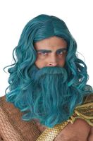 Ocean King Adult Wig and Beard Set