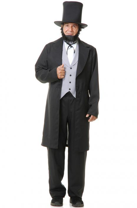 Victorian Men's Costumes: Mad Hatter, Rhet Butler, Willy Wonka Abe Lincoln Adult Costume $83.95 AT vintagedancer.com
