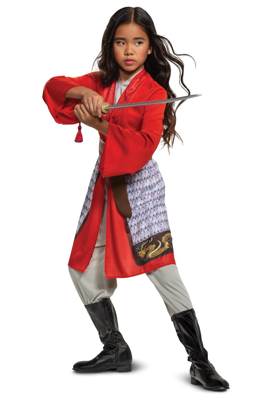 Mulan Hero Red Dress Classic Child Costume Purecostumes Com