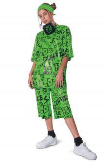 COVID-19-Appropriate costumes Billie Eilish Classic Child Costume (Green)