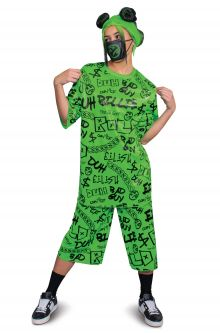COVID-19-Appropriate costumes Billie Eilish Classic Tween/Adult Costume (Green)