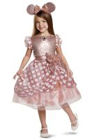 Rose Gold Minnie Deluxe Child Costume