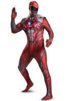 2017 Red Ranger Bodysuit Adult Costume