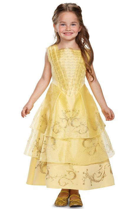 Belle Ball Gown Deluxe Toddler/Child Costume - PureCostumes.com