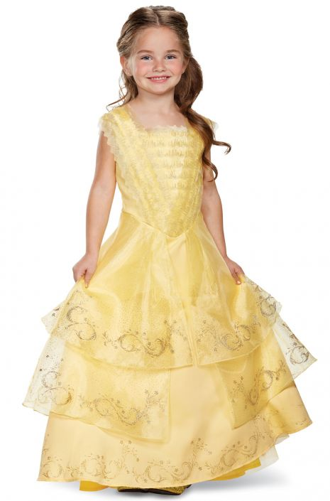 Belle Ball Gown Prestige Toddler/Child Costume - PureCostumes.com