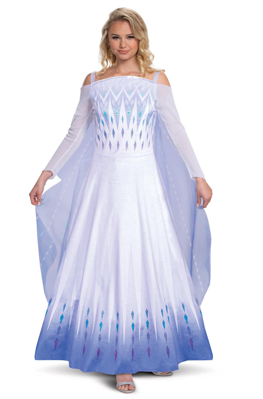Ultra Prestige Elsa Costume Disney Frozen Halloween Fancy Dress
