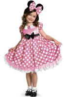 Pink Minnie Glow In the Dark Child Costume