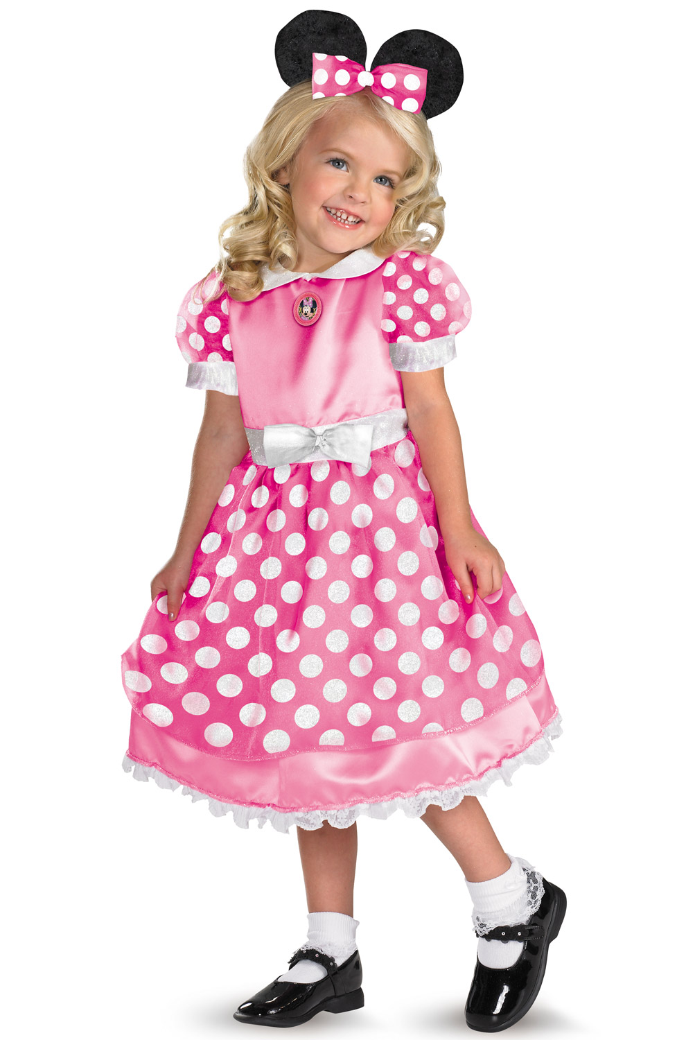 brand new disney clubhouse minnie mouse toddler costume pink ebay. Black Bedroom Furniture Sets. Home Design Ideas