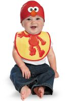 Sesame Street Elmo Bib and Hat Infant Costume