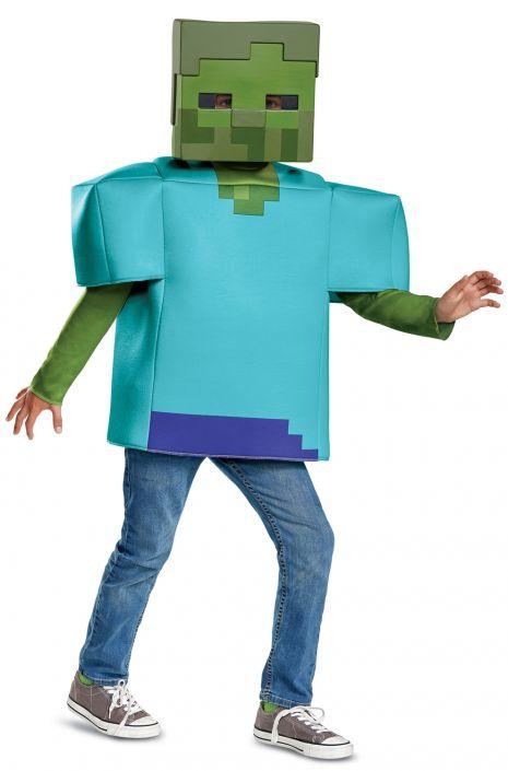 Minecraft Zombie Classic Child Costume  sc 1 st  Pure Costumes & Minecraft Zombie Classic Child Costume - PureCostumes.com