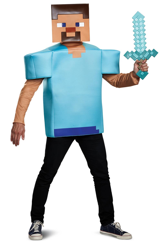 Minecraft Steve Classic Adult Costume Purecostumes Com