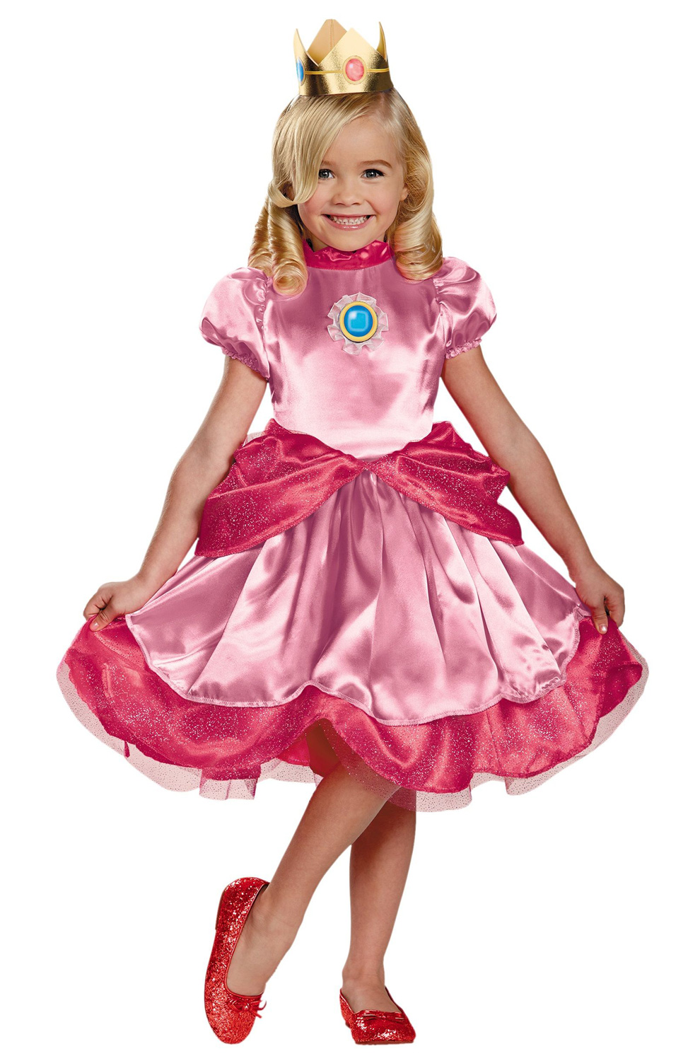 sc 1 st  Pure Costumes & Princess Peach Toddler Costume - PureCostumes.com