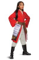 Mulan Hero Red Dress Deluxe Child Costume