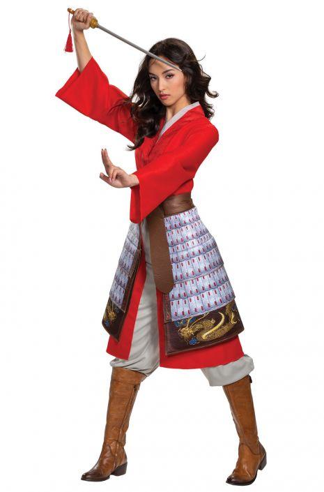 Mulan Hero Red Dress Deluxe Adult Costume Purecostumes Com