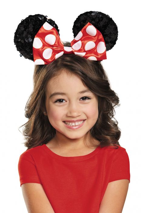 c2ae57243a4 Red Minnie Mouse Sequin Child Ears - PureCostumes.com