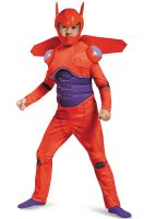 Red Baymax Deluxe Muscle Child Costume