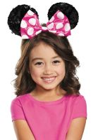 Pink Minnie Mouse Sequin Child Ears