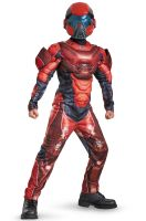 Red Spartan Classic Muscle Child Costume