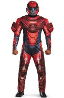 Red Spartan Muscle Adult Costume