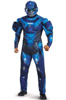 Blue Spartan Muscle Adult Costume