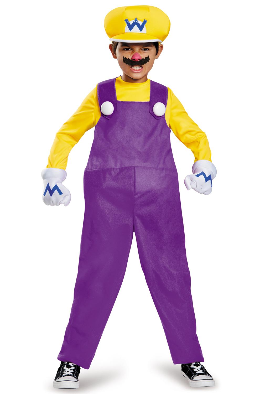 Super Mario Brothers Wario Deluxe Child Costume Wario And Waluigi Costumes