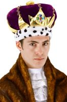 Purple King Crown Accessory