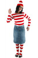 Where's Waldo Wenda Adult Costume (L/XL)