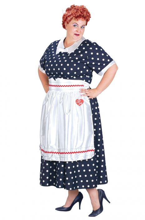 Plus Size I Love Lucy Polka Dot Dress Costume - PureCostumes.com