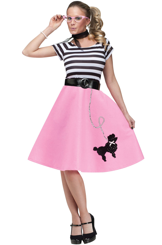 50 S Soda Shop Sweetie Adult Costume Purecostumes Com