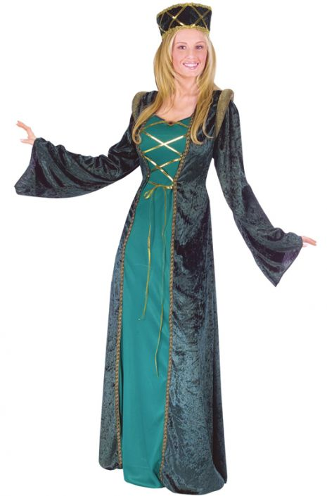 641a90133a8d41 Emerald Lady in Waiting Adult Costume - PureCostumes.com