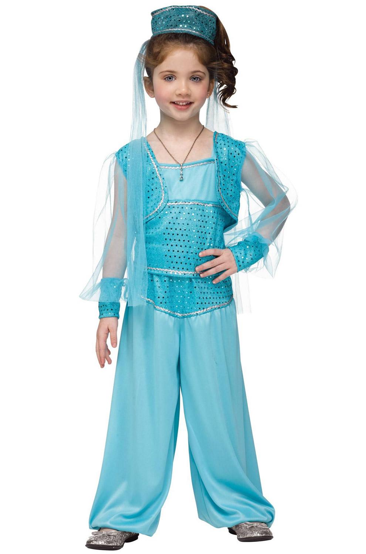 Brand New Arabian Princess Genie Girls Toddler Costume