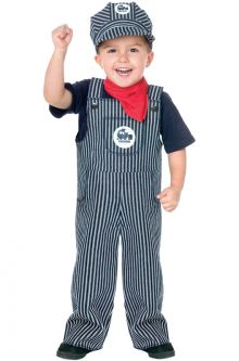 COVID-19-Appropriate costumes Train Engineer Toddler Costume