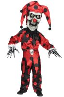 Bobble Head Evil Jester Child Costume