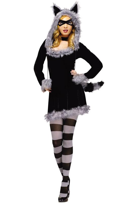 Sexy Furry Racy Raccoon Adult Halloween Costume | eBay Raccoon Eye Mask