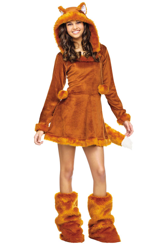 Sweet Fox Teen Costume  sc 1 st  eBay & Brand New Sweet Fox Teen Halloween Costume | eBay
