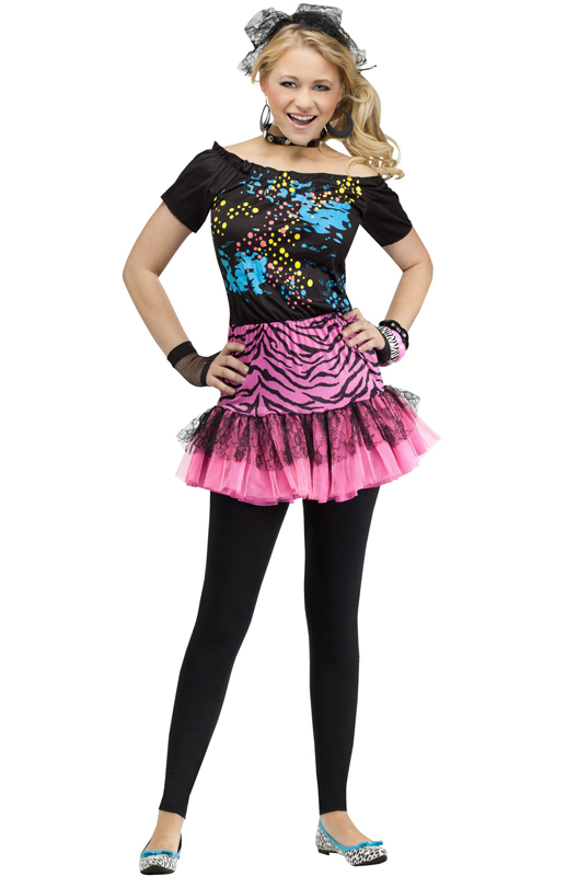 80's Pop Party Teen Costume - PureCostumes.com