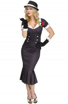 Gangster Gal Adult Costume  sc 1 st  Pure Costumes & Gangster Costumes - PureCostumes.com