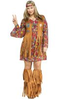 Peace and Love Hippie Plus Size Costume
