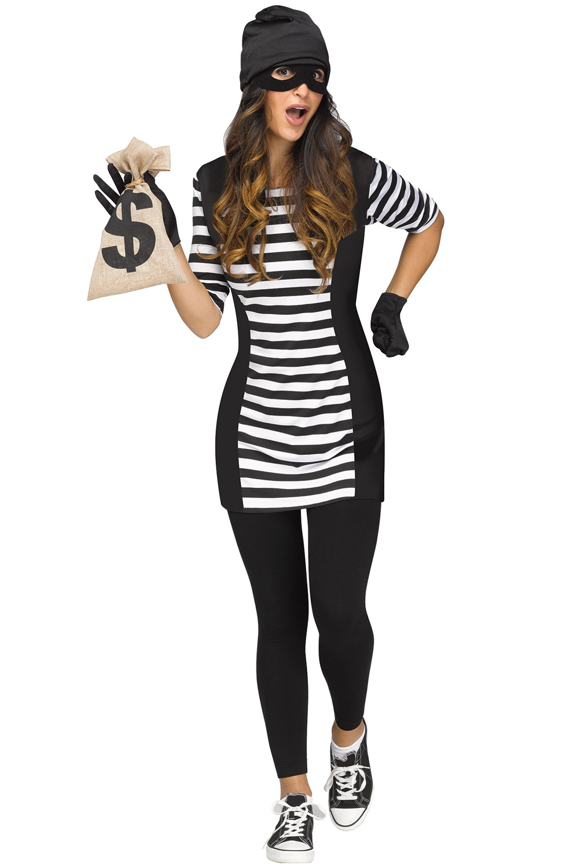 Prisoner convict costumes purecostumes burglar babe adult costume solutioingenieria Images