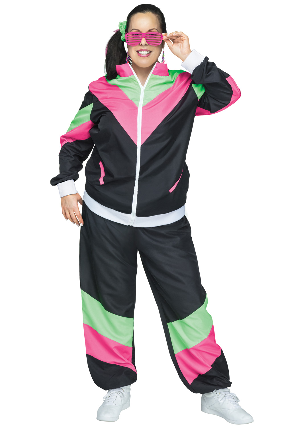 The 80s Fashion Trends That Are Back Today: 80s Female Track Suit Plus Size Costume
