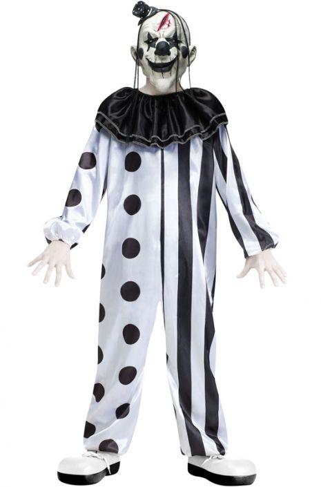 Crazy Killer Clown Child Costume