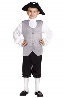 Historical Colonial Boy Child Costume