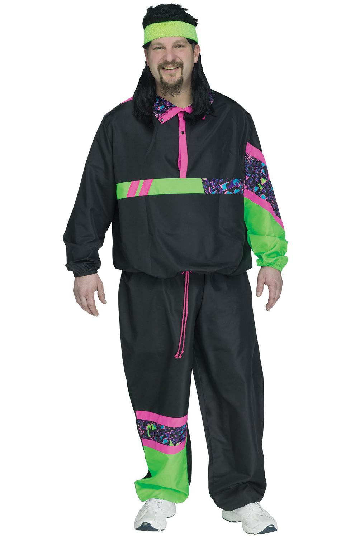 80s Male Track Suit Plus Size Costume - PureCostumes.com
