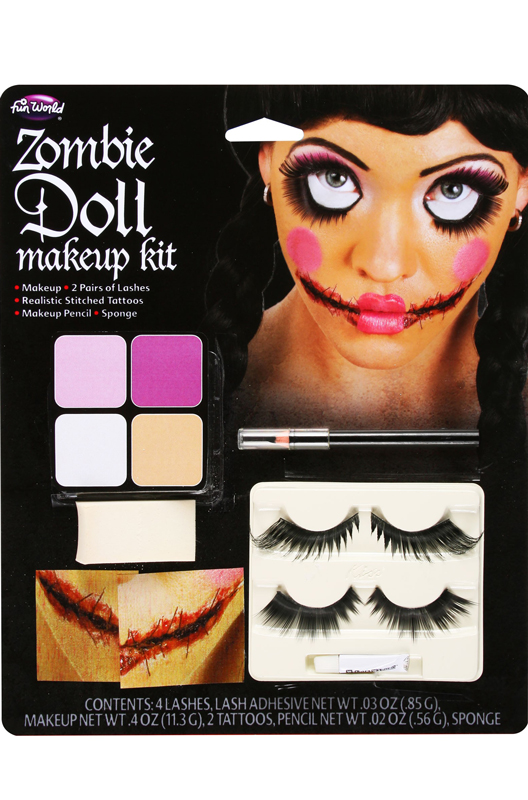 Zombie Doll Face Make-Up Kit - PureCostumes.com