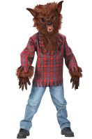 Werewolf Child Costume (Brown)
