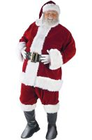 Ultra Velvet Santa Suit Plus Size Costume