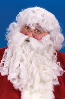 Deluxe Santa Wig and Beard Set